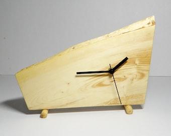 Clock, wooden desk clock, rustic clock, gift ideas (034)