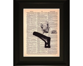 """Silouette"""".Dictionary Art Print. Vintage Upcycled Antique Book Page. Fits 8""""x10"""" frame"""