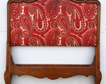 French Provincial Upholstered Twin Bed