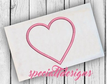 Heart Applique Design - Digital Embroidery File - Machine Embroidery - Instant Download - Hearts