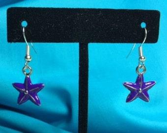 Purple Star Earrings!