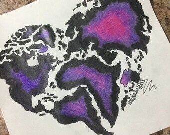 Heart World Map