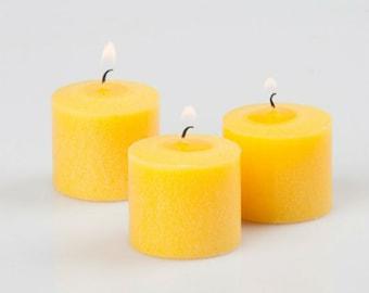 12 Sweet Lemon Small Votive Candles Set,  Yellow Scent Candles, Bulk set Candle, Home Candles, Housewarming gift,  Set Dozen Candles