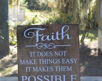 Faith made possible