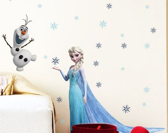 Disney Frozen Queen Elsa Princess Decal Removable WALL STICKERS Kids