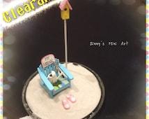Clearace: DIY Dollhouse miniature beach kit/ three color options