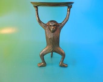 Vintage Brass Monkey Business Card Holder