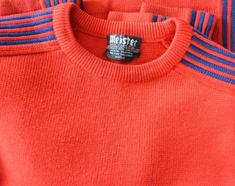 Vintage Meister Mens Sweater Ski / Snowboard / Crosscountry Ski / Lodge Sweater
