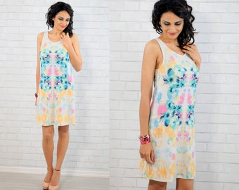Floral Tunic Dress/Floral Shift Dress