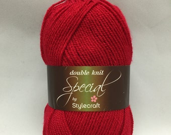 Stylecraft Special DK Yarn, Lipstick, 1246, DK Yarn, red yarn, red