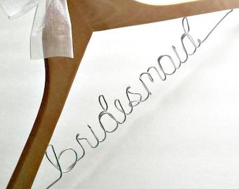 Custom Wedding Hangers / Wedding Hangers / Bridal Hanger / Wire Hanger / Bridal Party Hangers / Bridesmaids Hangers