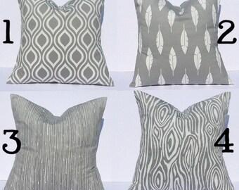 Throw pillows, accent pillows, decorative throw pillow covers, gray pillows, gray pillow covers, couch pillows, couch pillow covers, gray