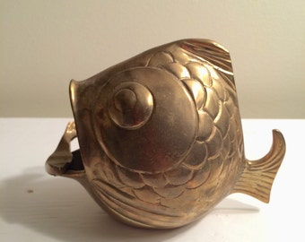 Brass Fish Curio/Ashtray