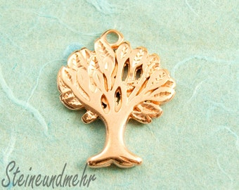 1 x tree of life rose gold plated art. 2261