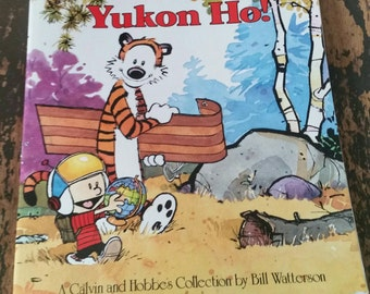 Vintage 1989 Calvin and Hobbes Collection by Bill Watterson Yukon Ho!/Collectible Book/Sunday Comic Strip
