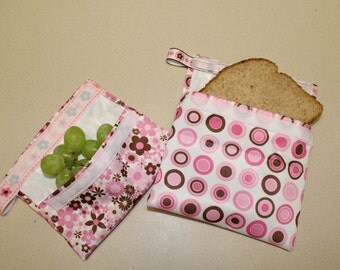 Reusable lunch, snack, sandwich bags