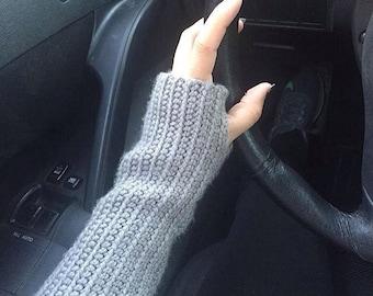 Extra Long Fingerless Gloves Crochet custom made to order