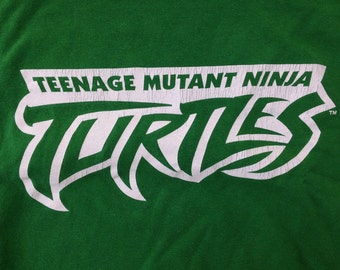 vintage Teenage Mutant Ninja Turtles t-shirt, green with white, Adult size XL, green shirt