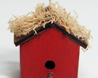 Miniature Grassy Roof Wren House