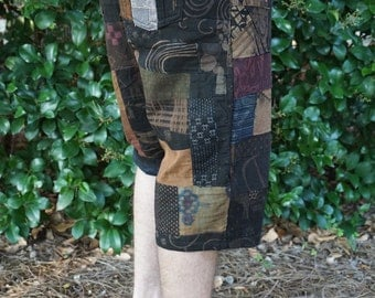 Men's Heady Patchwork , Festival Shorts with Pockets