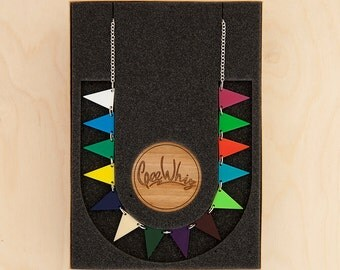 Acrylic Bunting Necklace