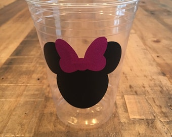 Minnie and Mickey Mouse party cups