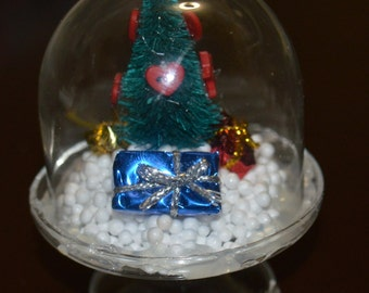 Mini Christmas Glass Ornament