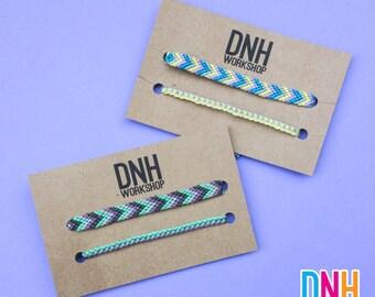 2 Adjustable Handmade Friendship Bracelets - Choose your own colors