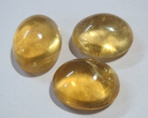 Natural UNTREATED Citrine Cabochons lot of 3 Gemstone yellow golden Worry Palm stone metaphysical Healing crystal chakra reiki oval gem