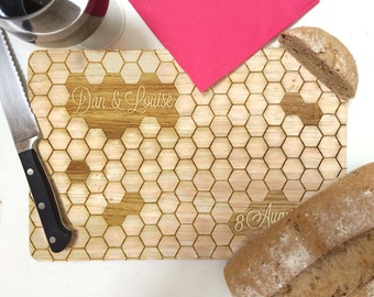 Personalised Chopping Board Geometric