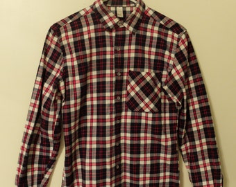 American Apparel Red, Navy, and White Flannel (size XS)