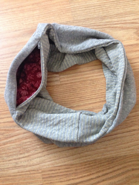 Infinity Scarf with Hidden Zipper Pocket