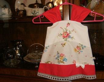Baby Sundress 6/8mo., Baby Girl Sundress 6/8mo., Sundress 6/8mo., Pillowcase Dress 6/8mo., Vintage Baby Dress 6/8mo.