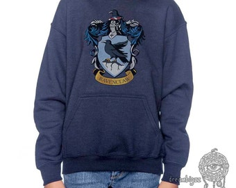 Ravenclw Crest #1 printed on YOUTH / KIDS Hoodie