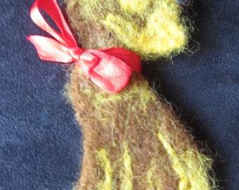 Dog brooch, Woolen brooch - dog, Scottish Terrier
