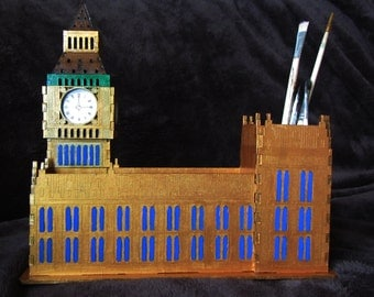 Pen organizer House of Parlament, Pen organizer Big Ben, table organizer, Office desk organizer Big Ben, The Clock Tower, House of Parlament