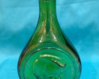 Kennedy Green Iridescent Green Glass Bottle - Robert Kennedy