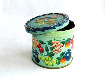 Vintage, Candy box, Poland Candy tin, Vintage Tin, Metal box, Retro Storage Tin, Cookie Tin 60s