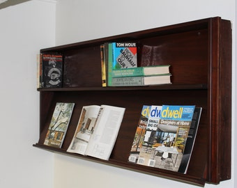 Mid century book shelf wall mounted shelving