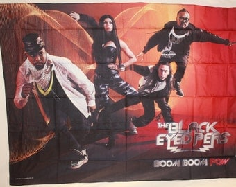 Black Eyed Peas Boom Boom Pow Official Cloth Textile Fabric Poster Flag Tapestry Wall Banner FREE SHIPPING New!