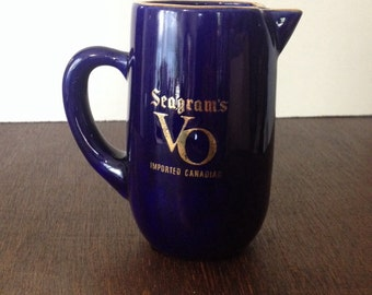 Seagram's VO Advertising Pitcher