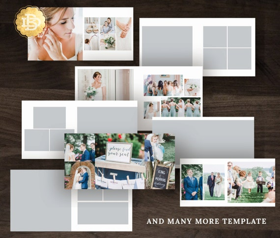 10x10 and 12x12 Photo Book Album Template Design, Photography Album Photoshop Template for Photographer - INSTANT DOWNLOAD - PA001