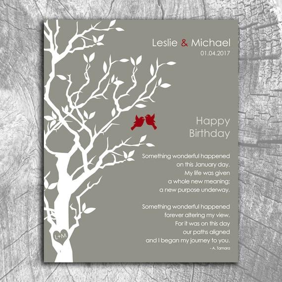 January Birthday Love Poem Personalized Happy Birthday Gift