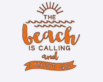 Beach Decal - Beach Is Calling My Name - Yeti Sticker