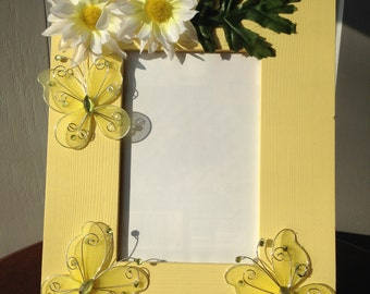 Sunny Butterfly Picture Frame