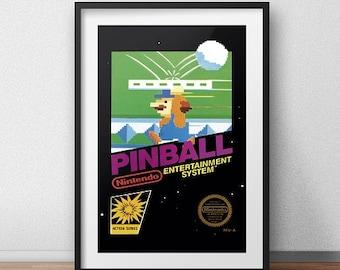 Pinball Original NES Box print