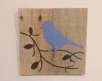 Reclaimed wood bird design - small