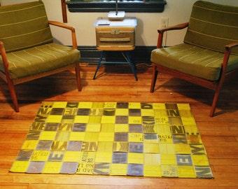 handmade industrial rug/ wall hanging