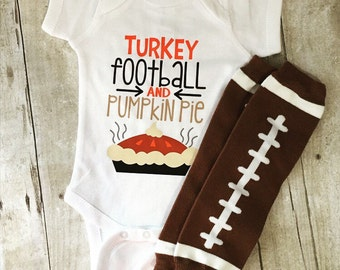 Baby Thanksgiving Outfit, Thanksgiving bodysuit, turkey bodysuit, football outfit, thanksgiving outfit, unisex baby thanksgiving, newborn