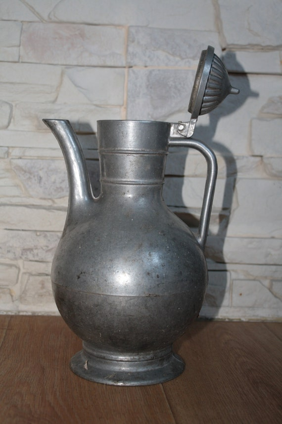 Old potthery pitcher vintage heat resistant by airdream on etsy - Heat proof pitcher ...